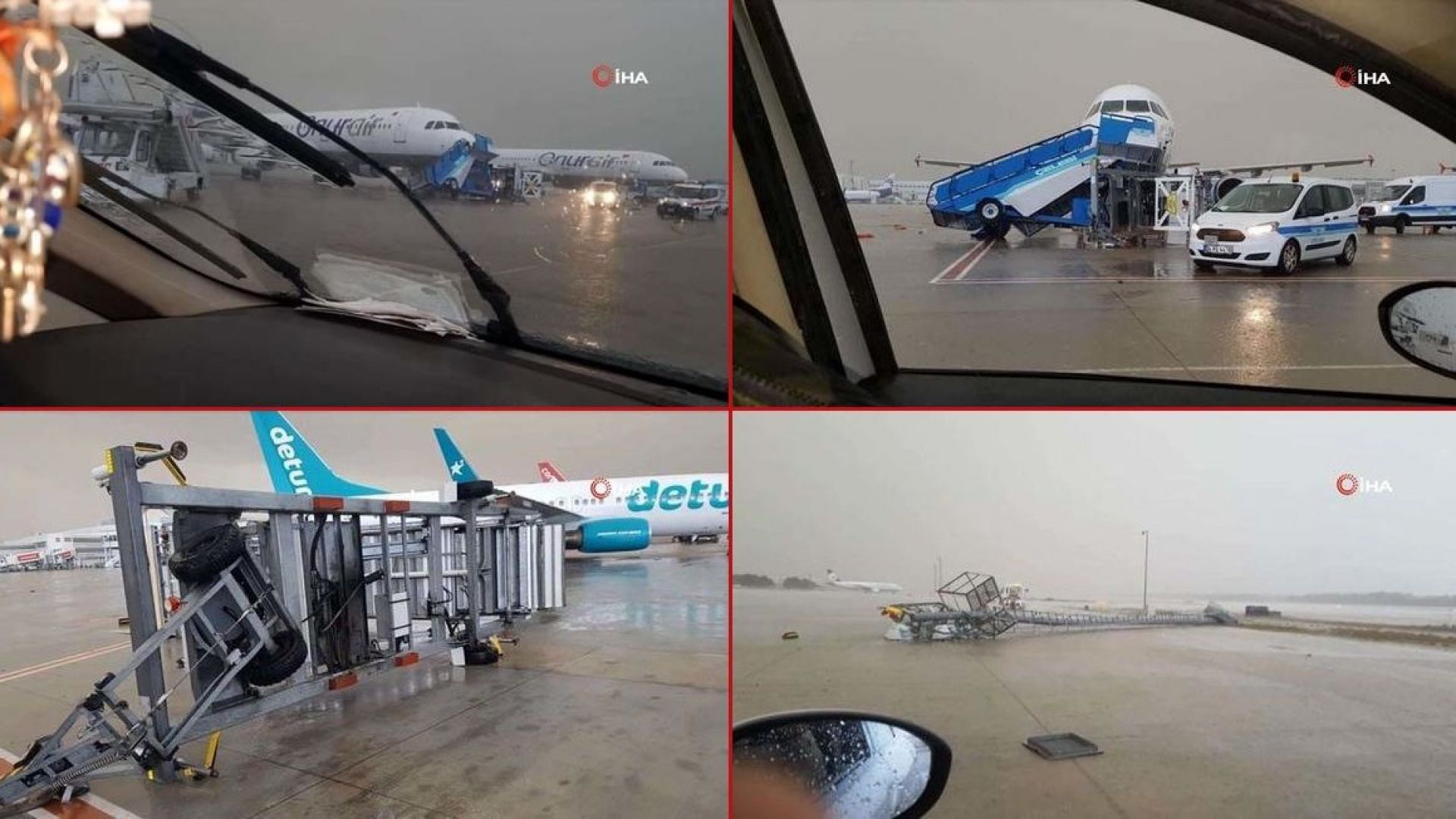 Торнадо на летището в Анталия - 2 повредени самолета и 12 пострадали