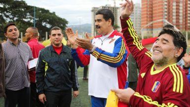 Марадона се застъпи за Мадуро, легендарен вратар го нарече наркоман