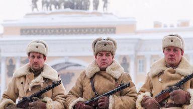 Парад в Санкт-Петербург по случай 75 години от падането на блокадата (видео)