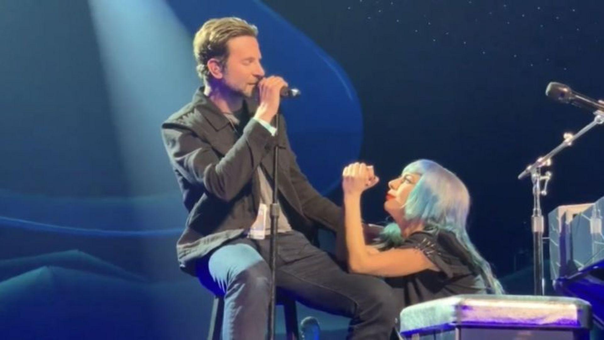 """Брадли Купър и Гага изненадващо изпълниха """"Shallow"""" на живо (видео)"""