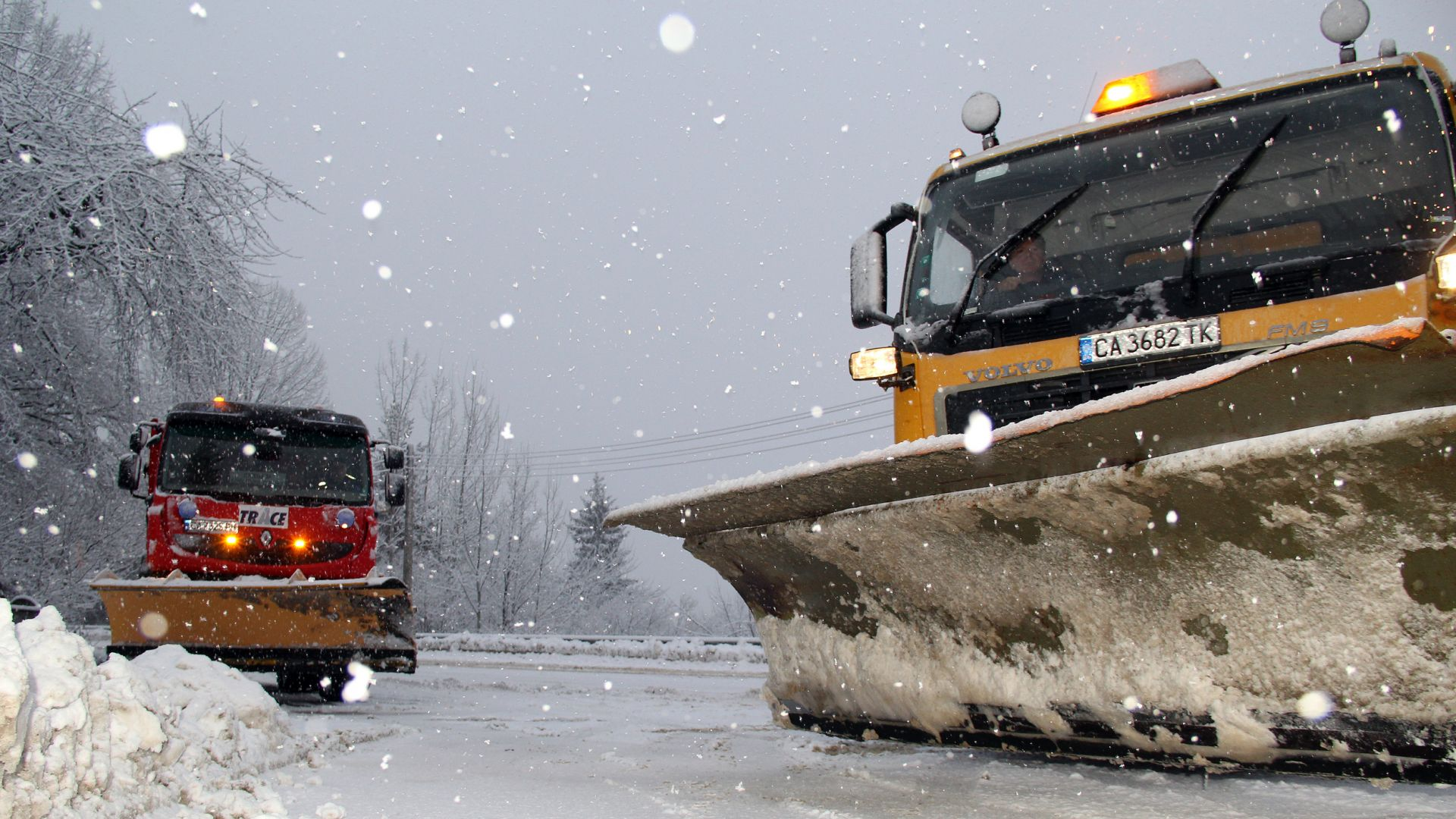 20-сантиметрова покривка сняг на Пампорово