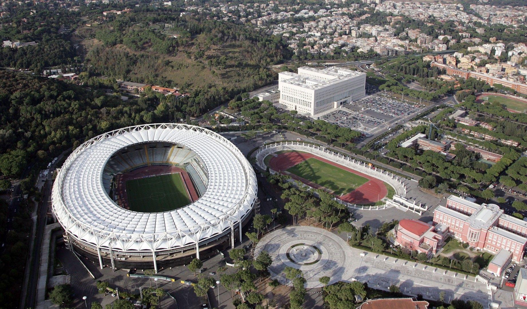 """""""Стадио Олимпико"""" е арената на мача на откриването, а още два двубоя от група А, както и четвъртфинал на 4 юли допълват програмата на тази арена. Тя е видяла всичко - Олимпиада (1960), четири финала на Купата на шампионите, финал на Европейско (1968) и Световно първенство (1990)."""