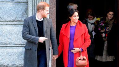 Хари и Меган разделени на първия си Свети Валентин като семейство