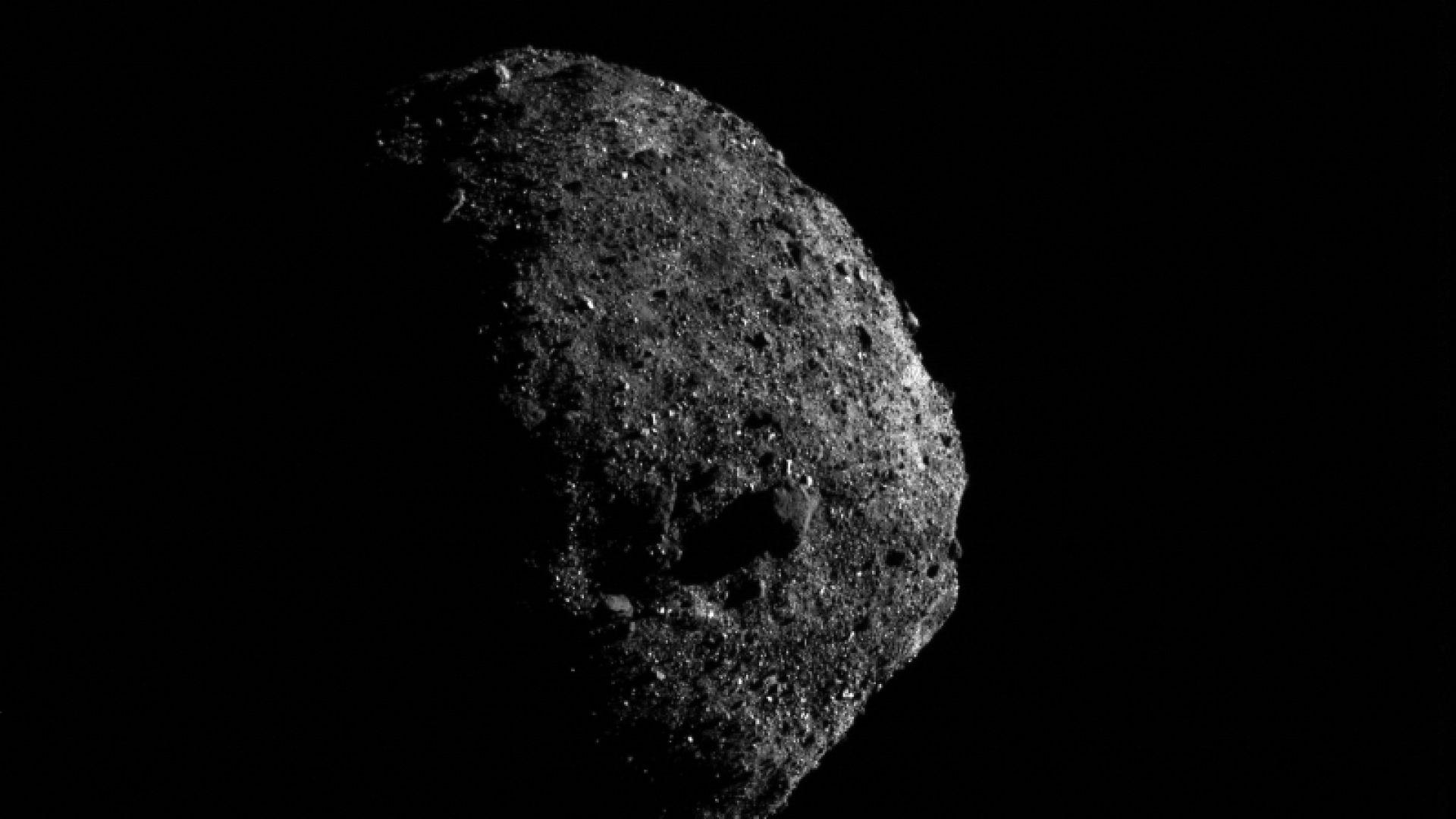 НАСА публикува нови близки снимки на астероида Бену