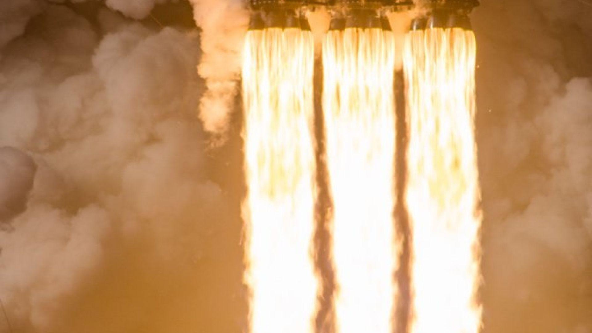 Инцидент при превозването на първата степен на Falcon Heavy