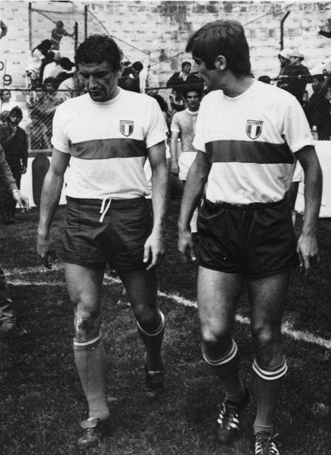 Джиджи Рива и Джани Ривера - двойката страховити нападатели на Италия.