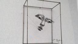 Скулптури от тел с душа, които приличат на рисунки с молив