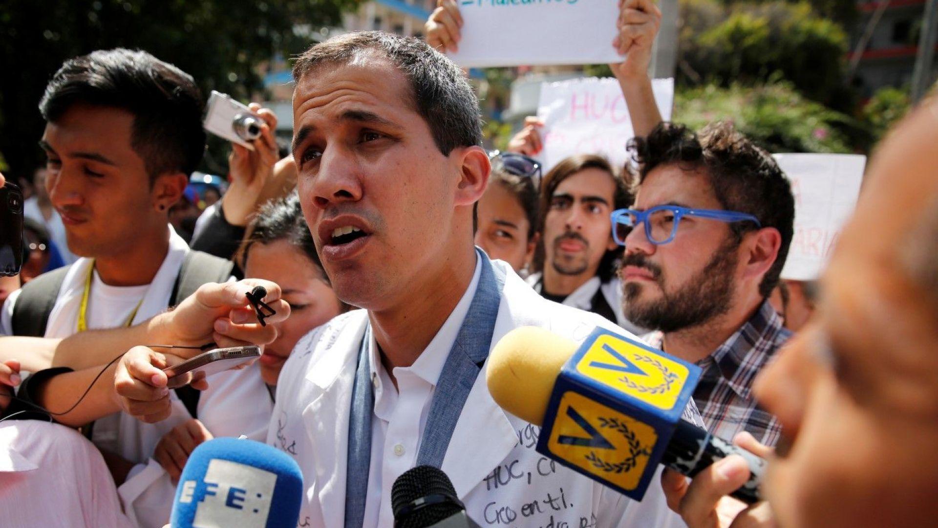 Редица европейски държави признаха Гуаидо за президент на Венецуела