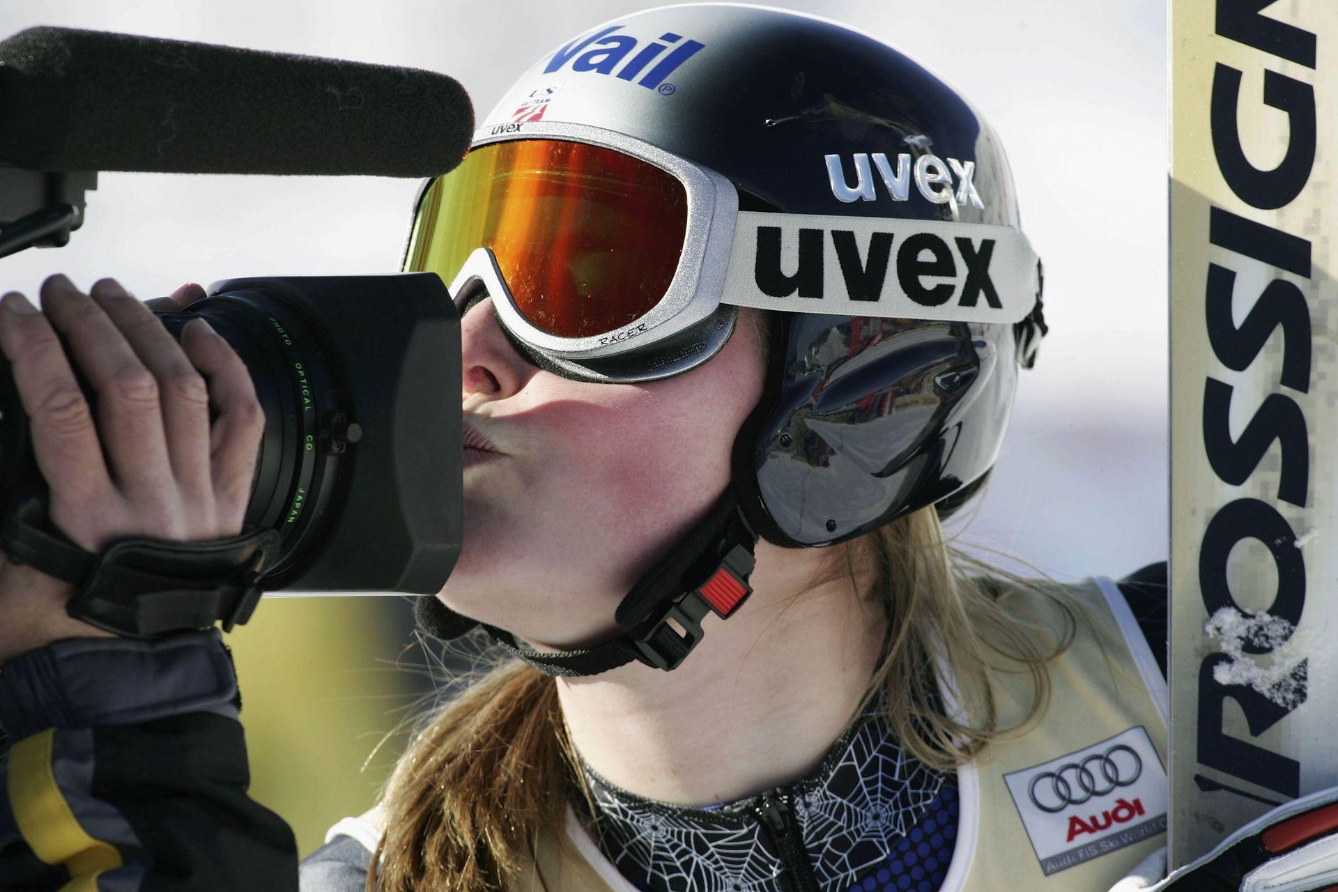 2005 г., Линдзи Килдоу целува камерата след една от първите си победи.