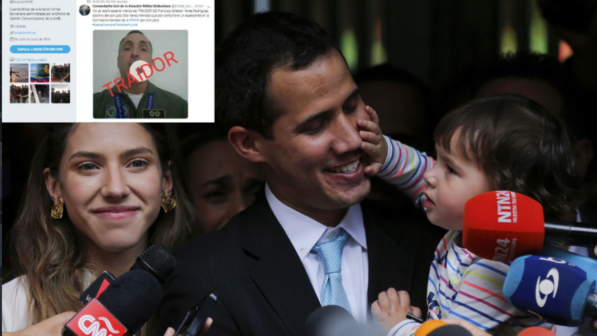 Венецуелски генерал призна опозиционера Гуаидо за президент