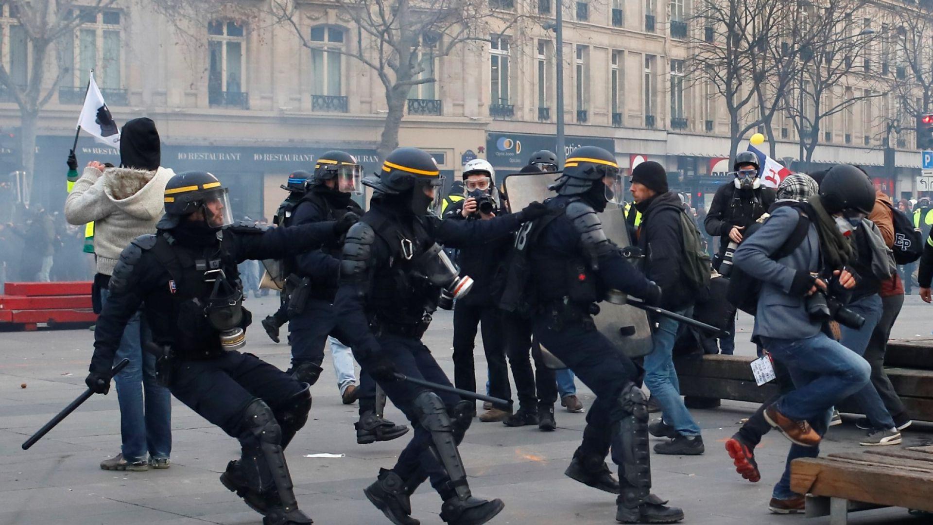 Съветът на Европа призова Франция да не стреля с гумени куршуми срещу демонстранти