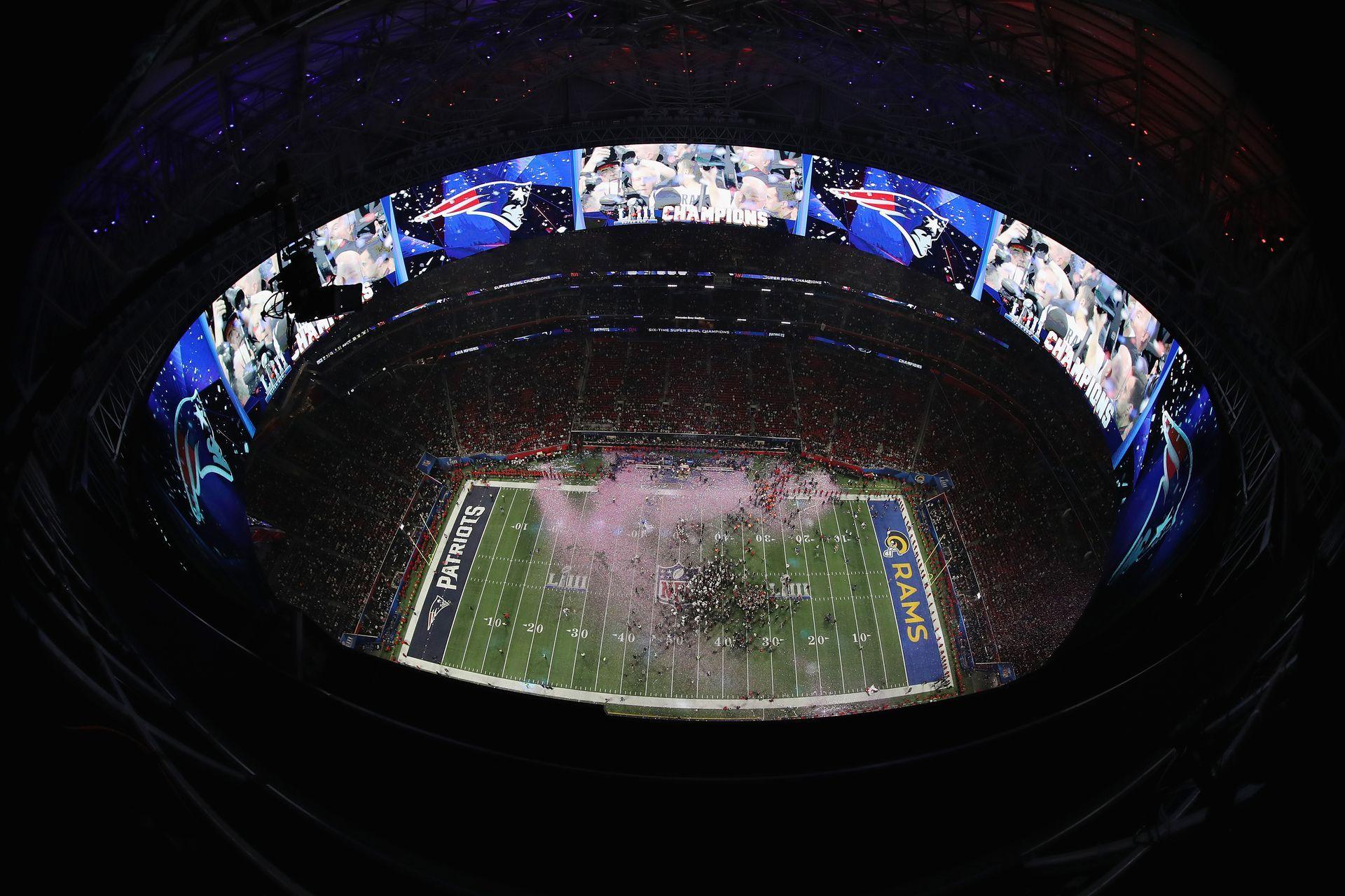 Стадионът в Атланта след края на Супербоул