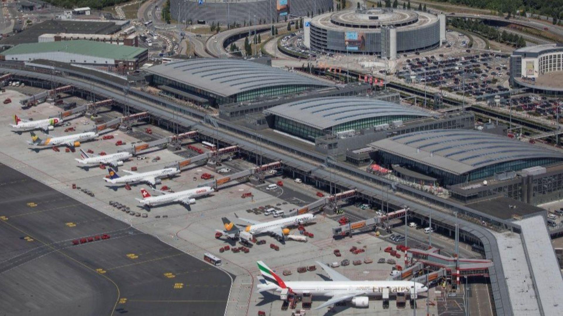 Отменени полети и закъснения на летището в Хамбург заради стачка