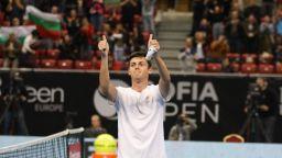 Лазаров прогресира с 10 места в ранглистата на ATP
