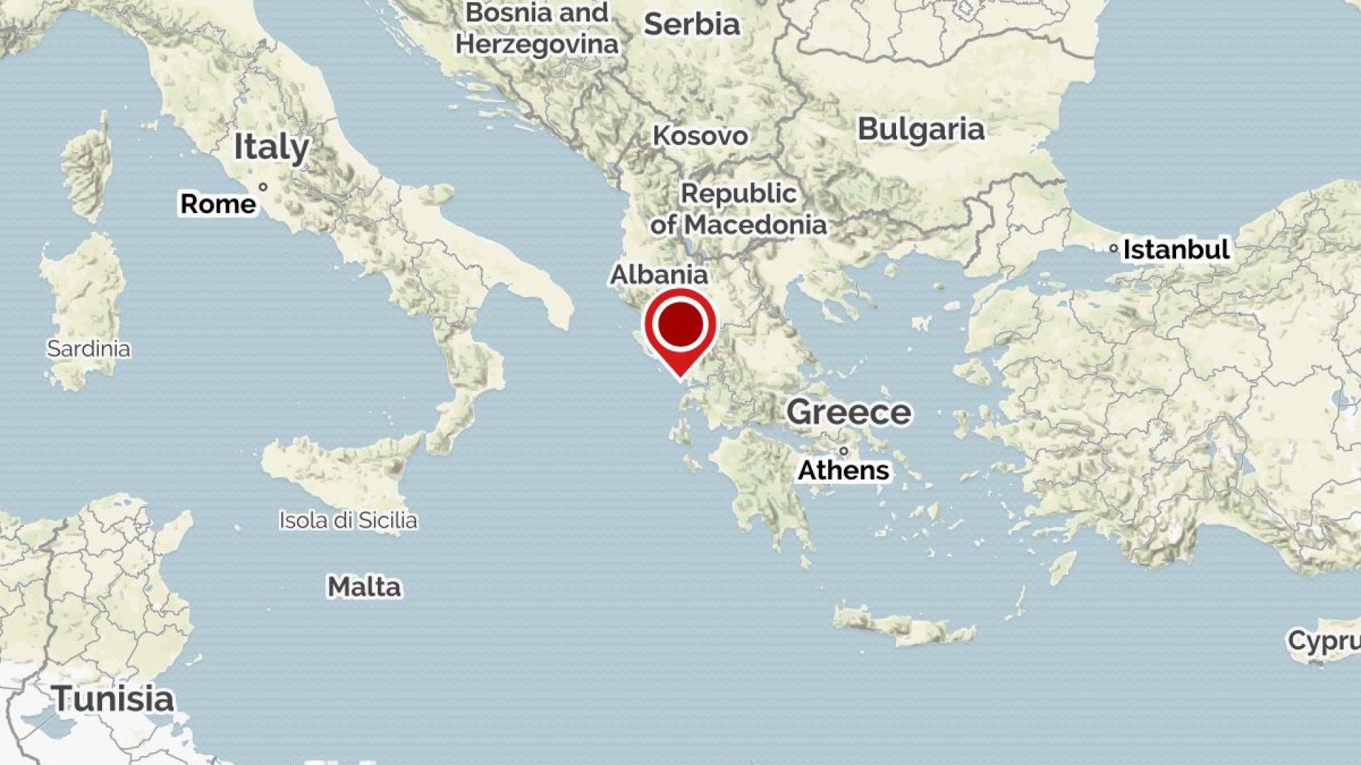 Трус от 5.2 по Рихтер разтърси Югозападна Гърция