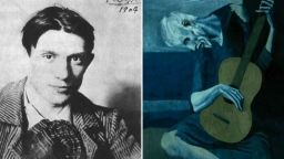 """Има скрит образ на жена в картината на Пикасо """"Старият китарист"""", твърдят музейни експерти от Чикаго"""