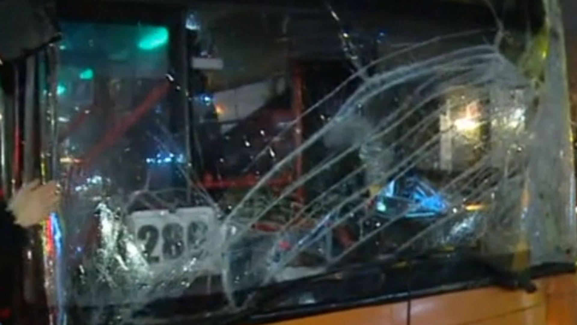 Щети за няколко хиляди лева в автобус 280 след нападението от пътник