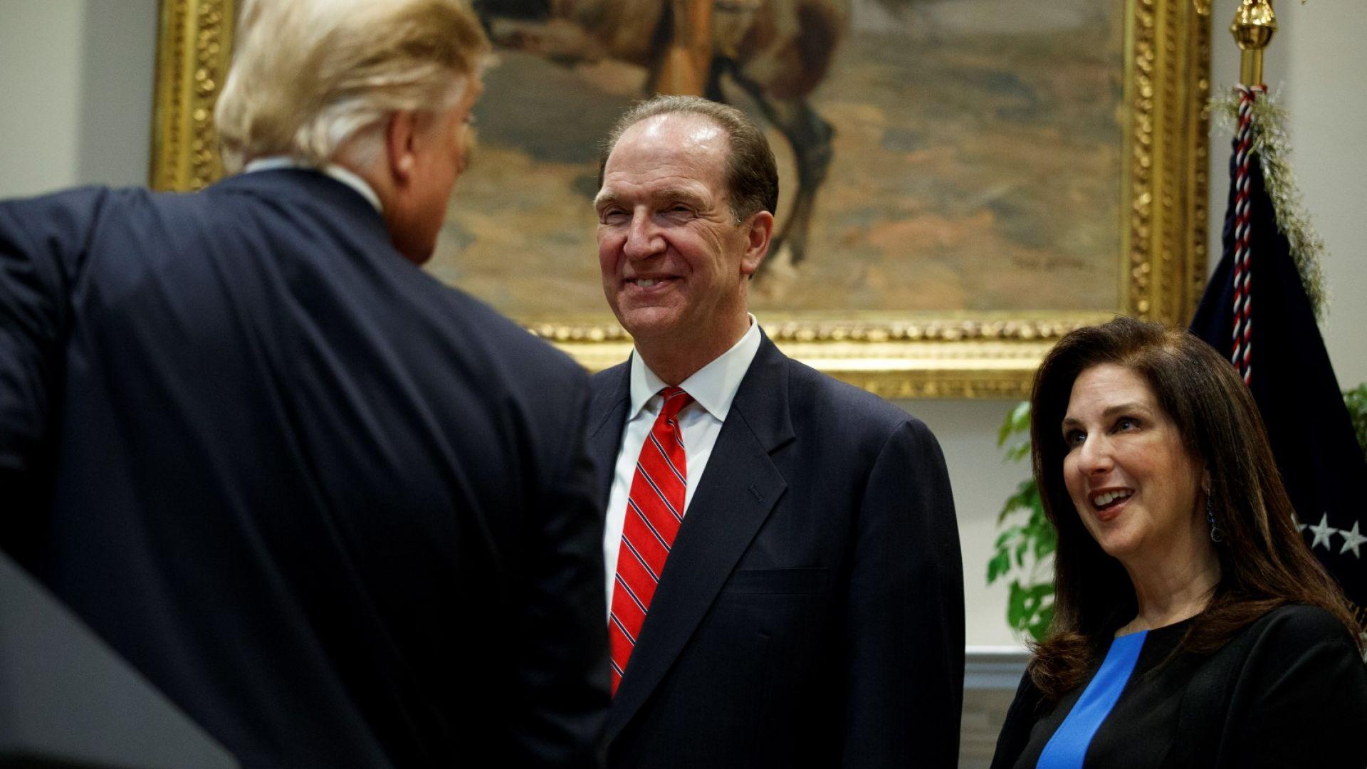 Кандидатът на Тръмп бе назначен за шеф на Световната банка