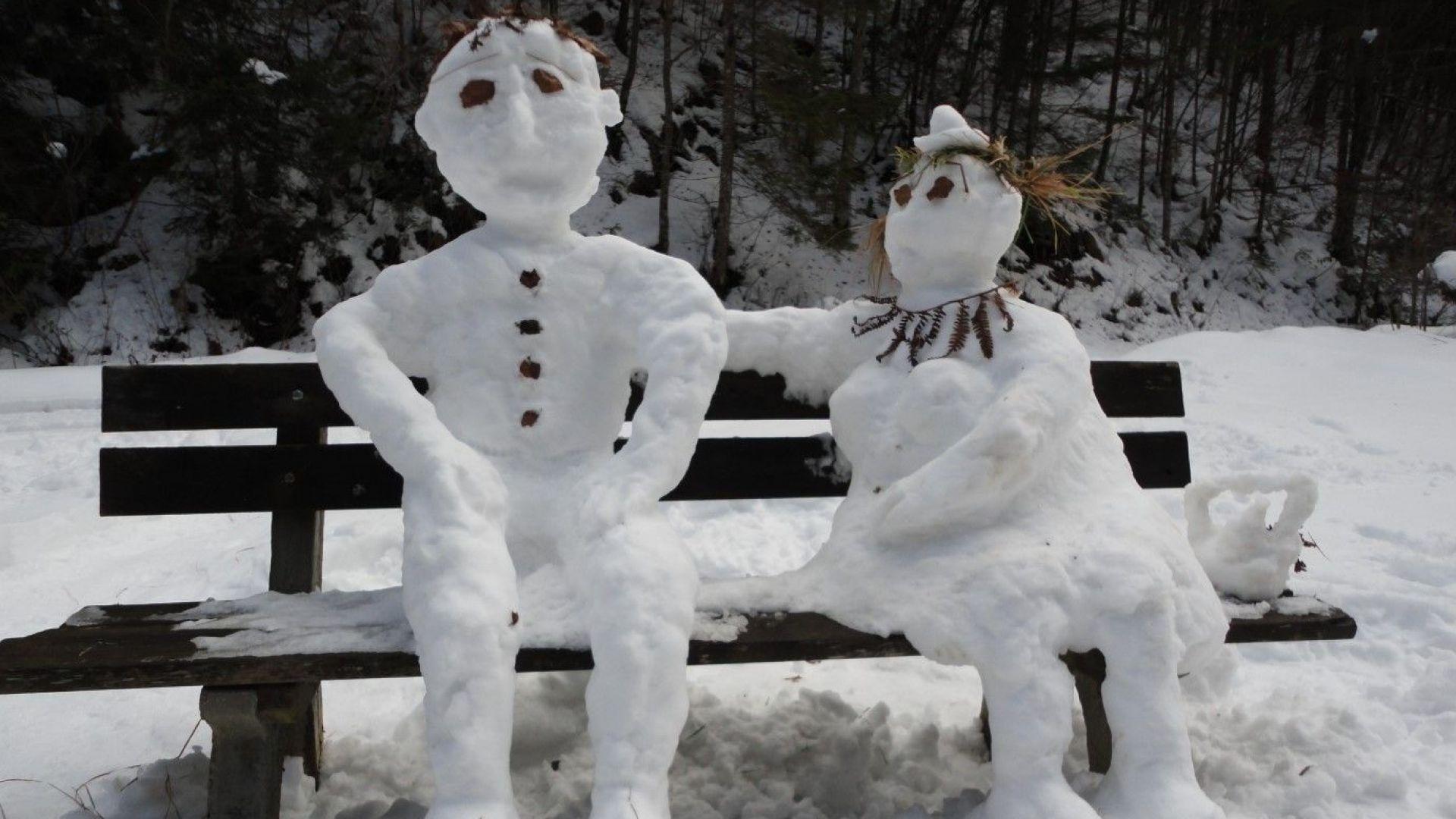 Колко е висок най-големият снежен човек?