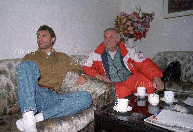 Стоичков с големия Петър Жеков, от когото е научил страшно много в тренировките в ЦСКА в края на 80-те