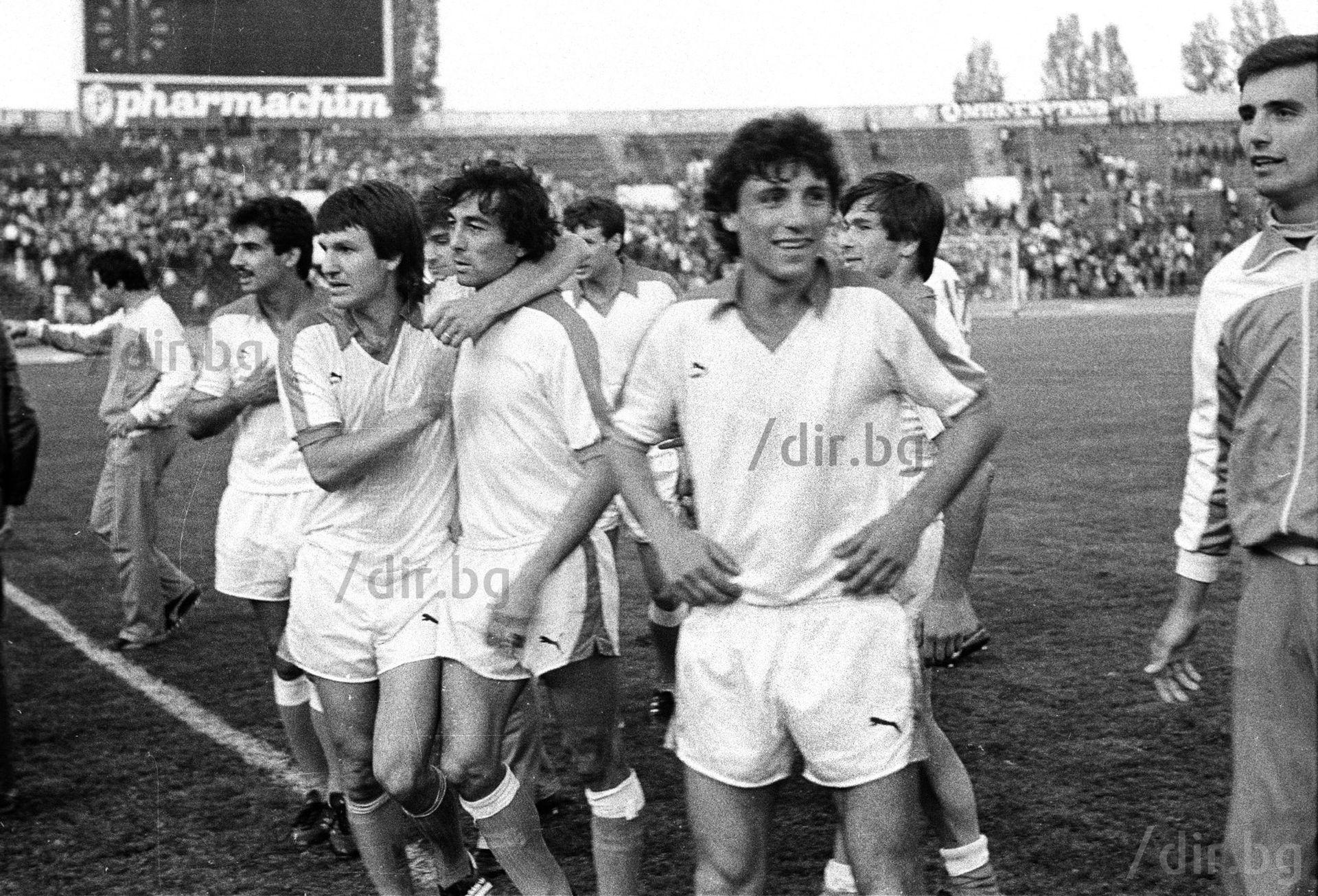 След прочутия финал за Купата на България през юни 1985 г., когато бе наказан доживот да не играе футбол. А бе едва на 19 години