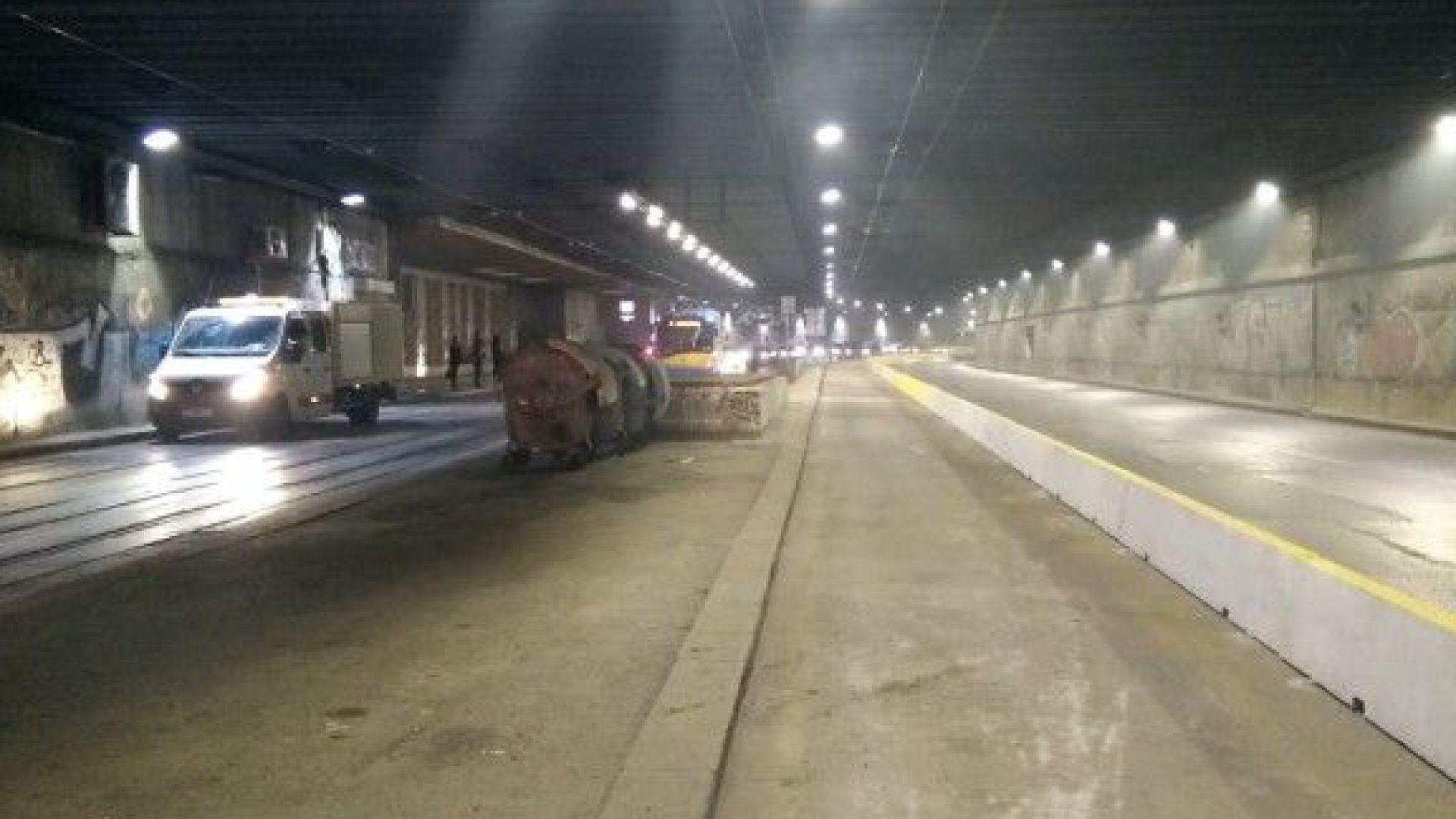 Затварят частично тунела под НДК в неделя