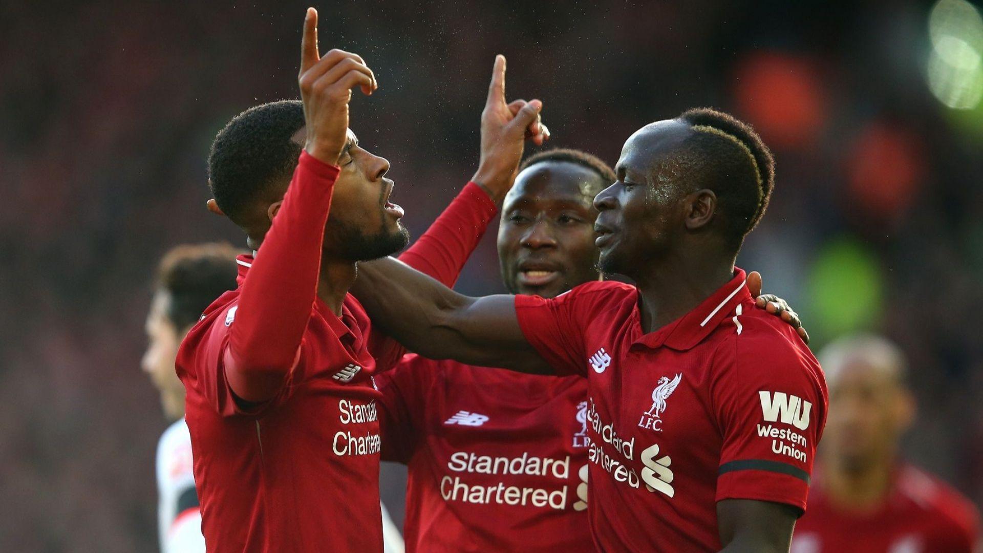 Три гола и три точки преднина за Ливърпул на върха