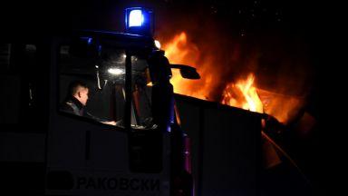 Голям пожар във фабрика за месо във Войводиново