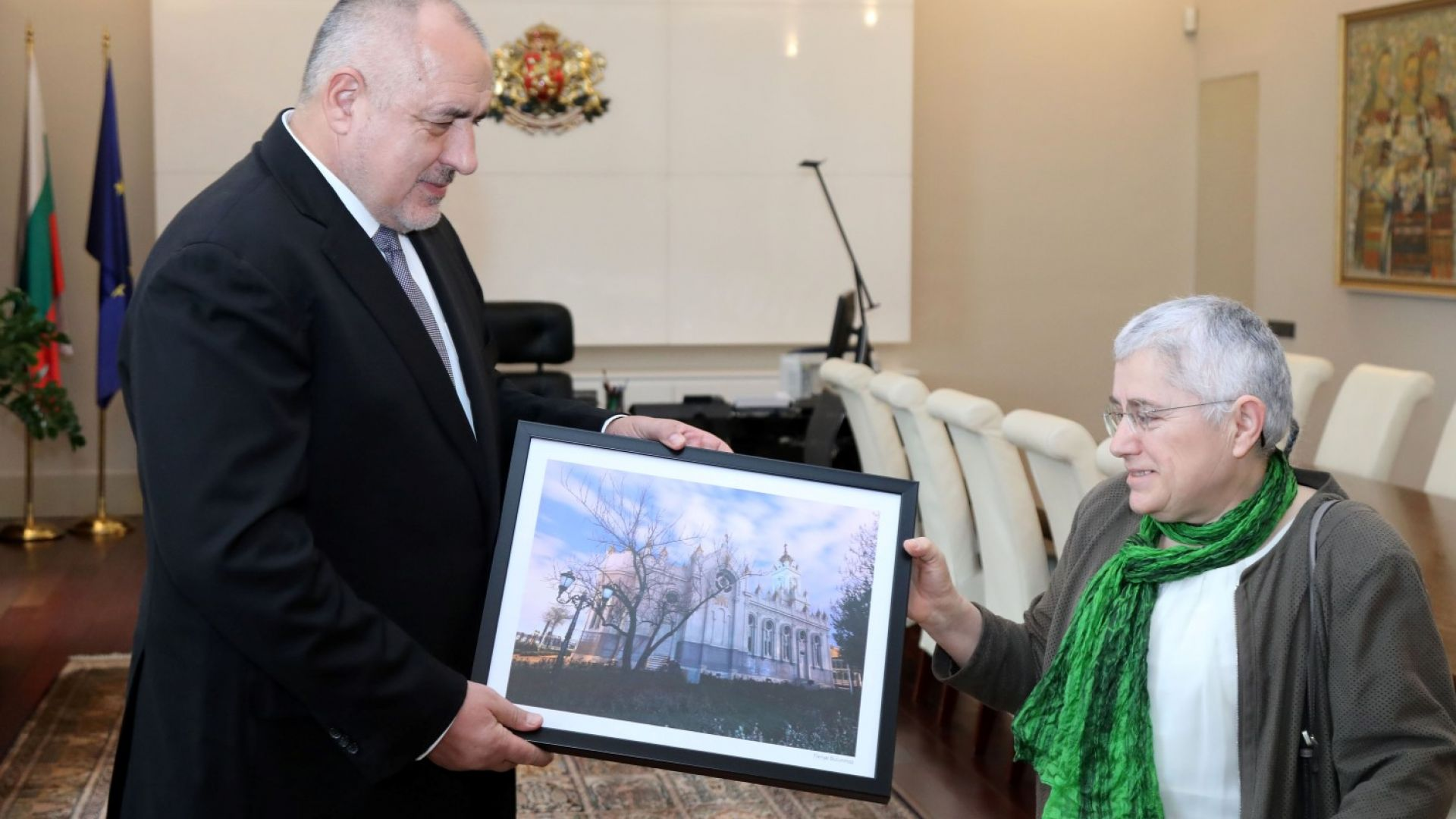 Министър-председателят Бойко Борисов се срещна с архитекта Фикрие Булунмаз, под