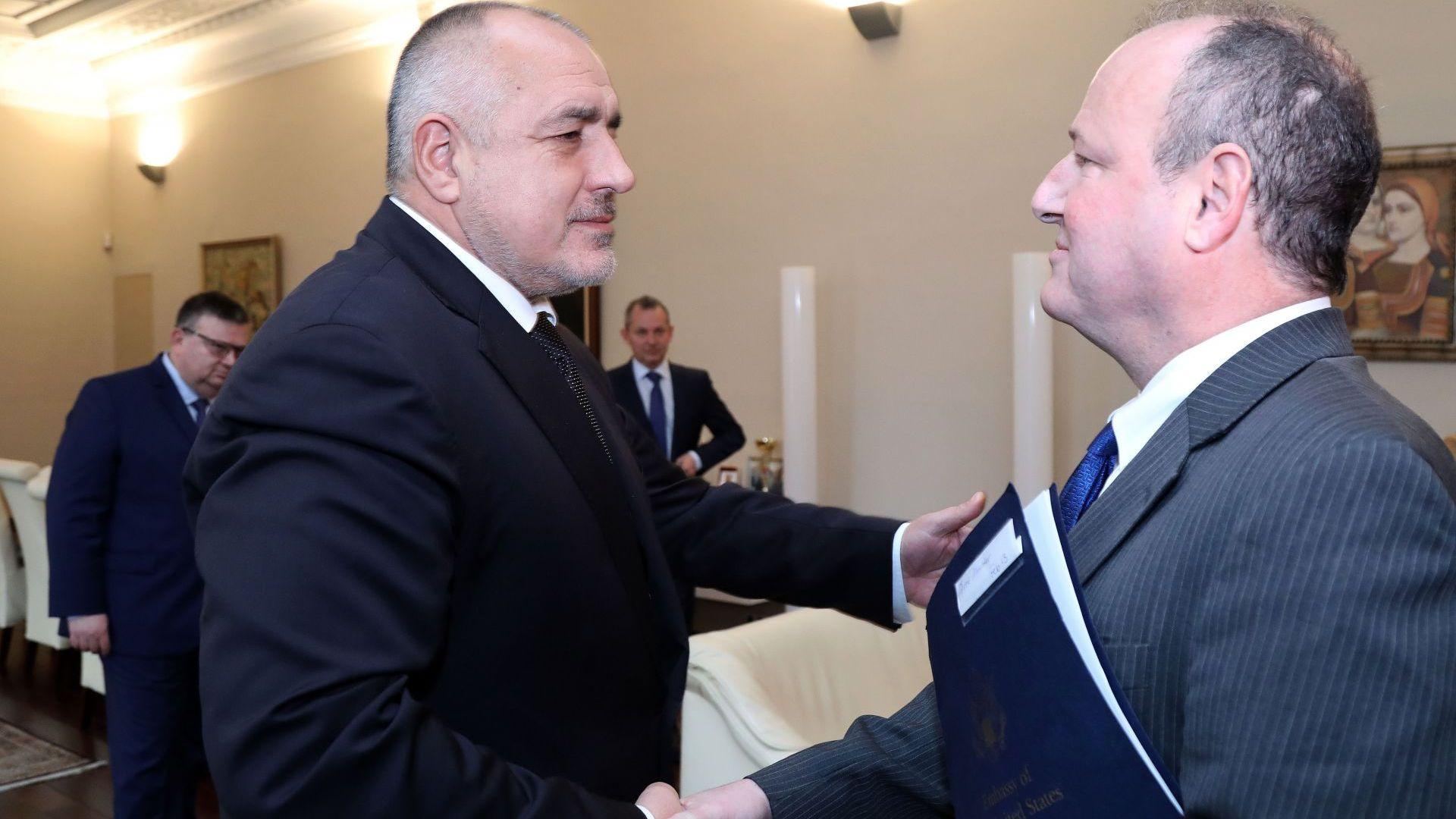Премиерът Бойко Борисов се срещна с посланика на САЩ Ерик Рубин