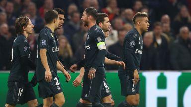 """""""Златна резерва"""" и ВАР измъкнаха Реал от Амстердам"""