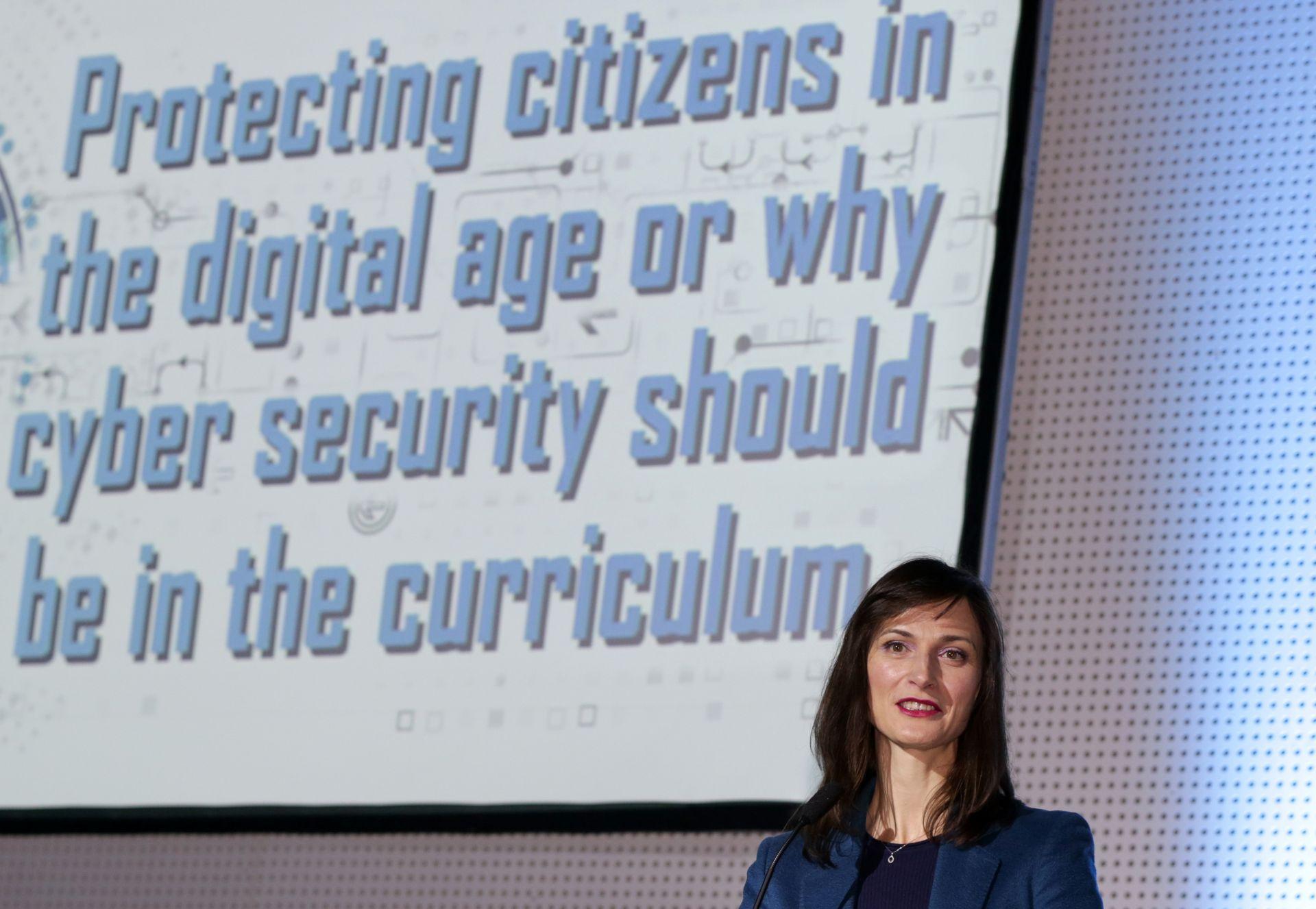 """Мария Габриев на конференцията """"Cybersec 2019"""", посветена на разработването и внедряването на системи, отговорни за поддържане на киберсигурността и опазването на личните данн"""