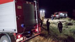 Пет коли гасят пожар в Калояново