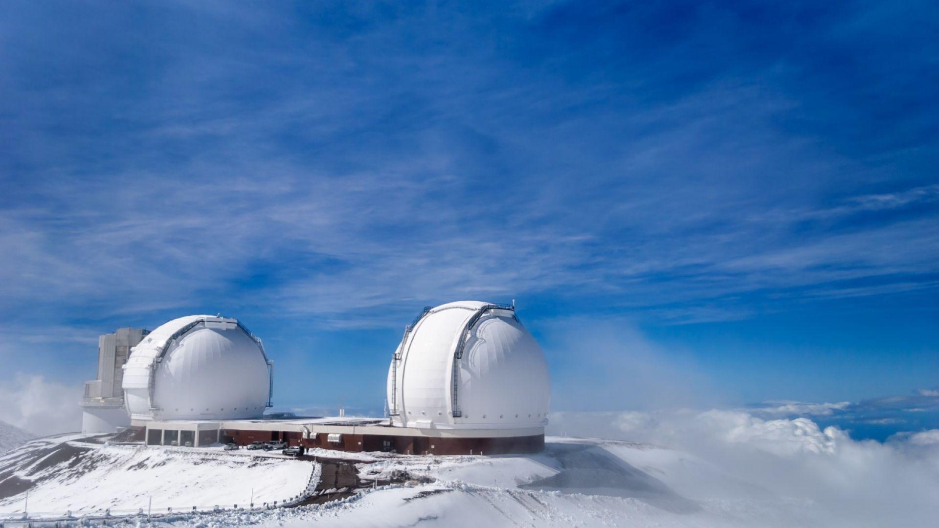 Сняг и студ на Хаваите, замръзнаха телескопите