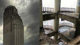 Така изглежда най-големият изоставен небостъргач в света