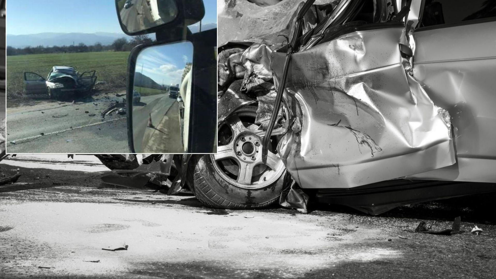 След изпреварване на Е79: ТИР помете кола със съпрузи, мъжът загина
