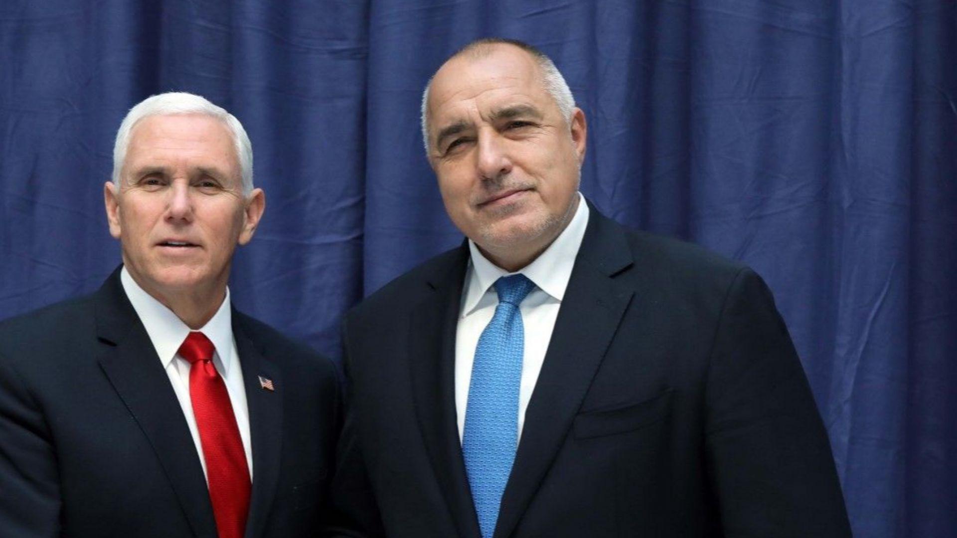 Борисов: Майк Пенс одобри всичко, което правим, благодари на спецслужбите ни