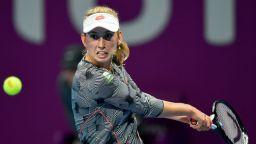 Белгийка спря Халеп за трофея в Доха
