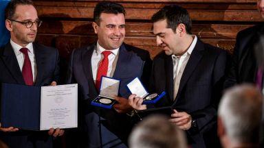 Зоран Заев сподели престижна награда с българския премиер