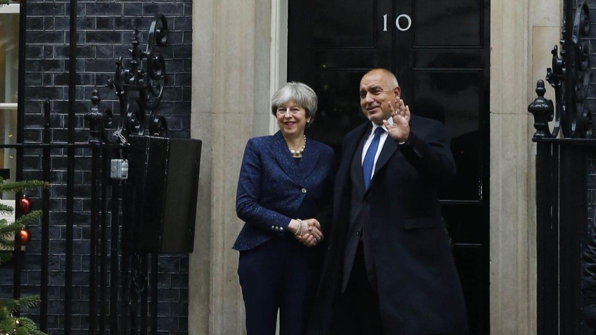 Министър-председателят Бойко Борисов проведе телефонен разговор с британския си колега
