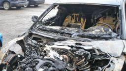 Лек автомобил изгоря, няма пострадали