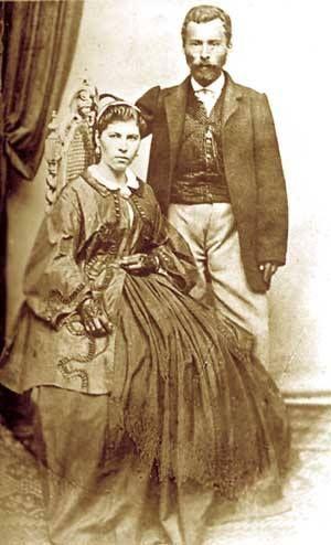 Иван Ведър и съпругата му