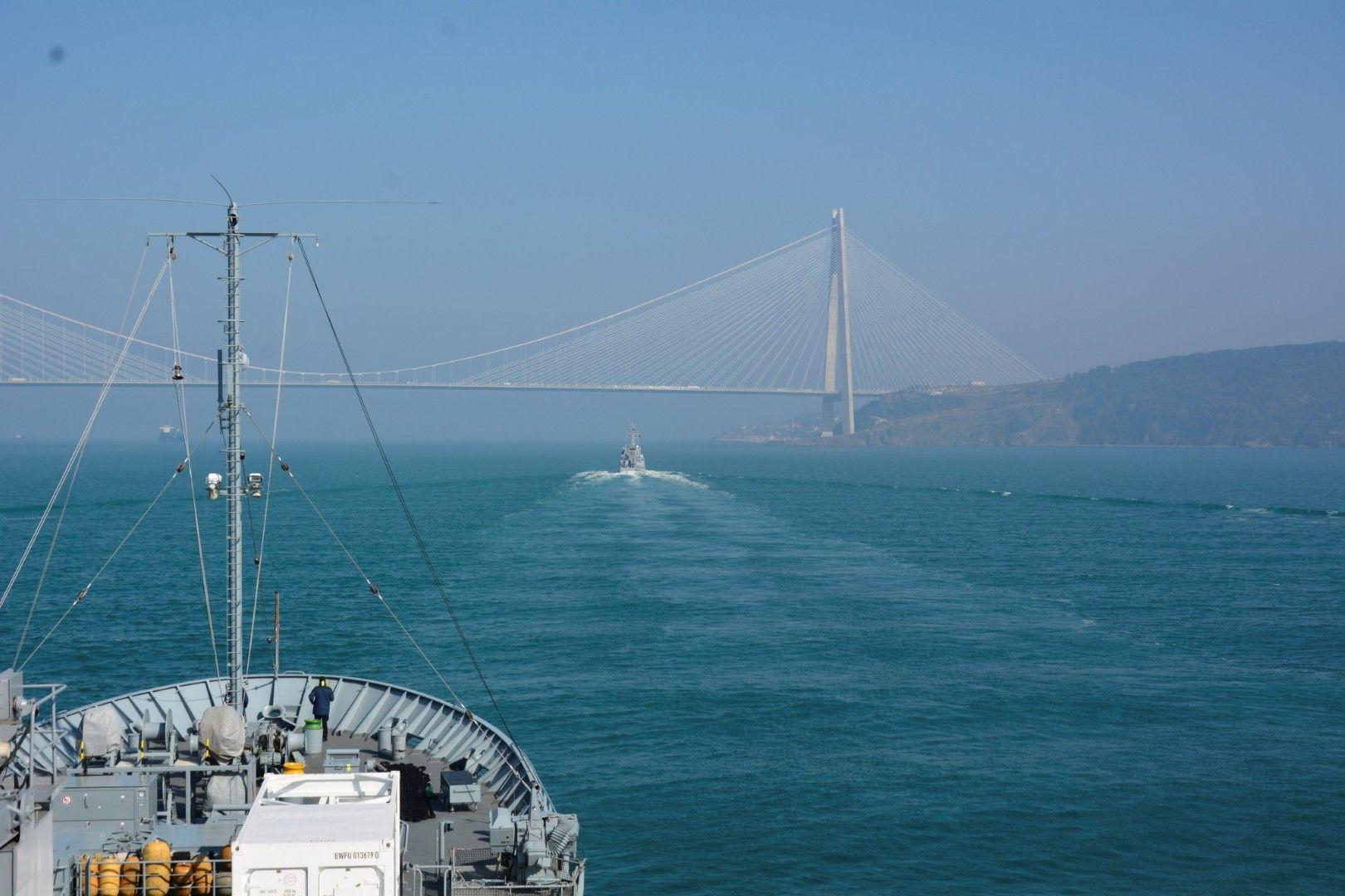 Група от 4 кораба на НАТО навлезе в Черно море на 19 февруари