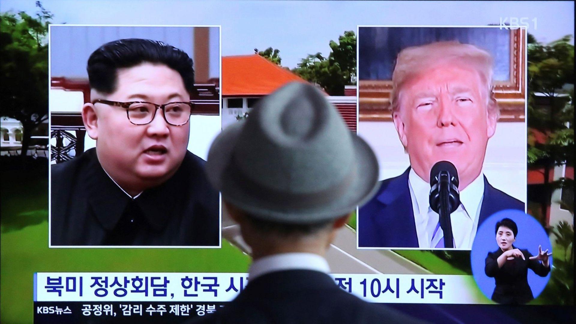 Снимка: Ким изчисти старите кадри от ядрените преговори