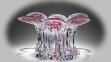 Светещите стъклени медузи на Даниела Форти