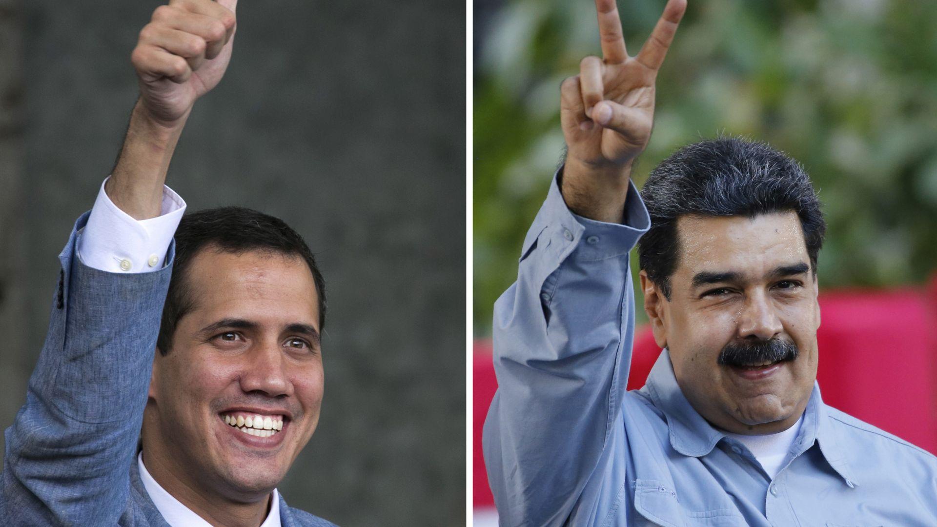 Схватката между Гуаидо и Мадуро продължава с концертен дуел