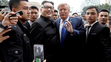 Двойниците Доналд Тръмп и Ким Чен-ун бяха задържани и разпитвани от полицията в Ханой