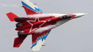 Кадри от кабината на МиГ-29
