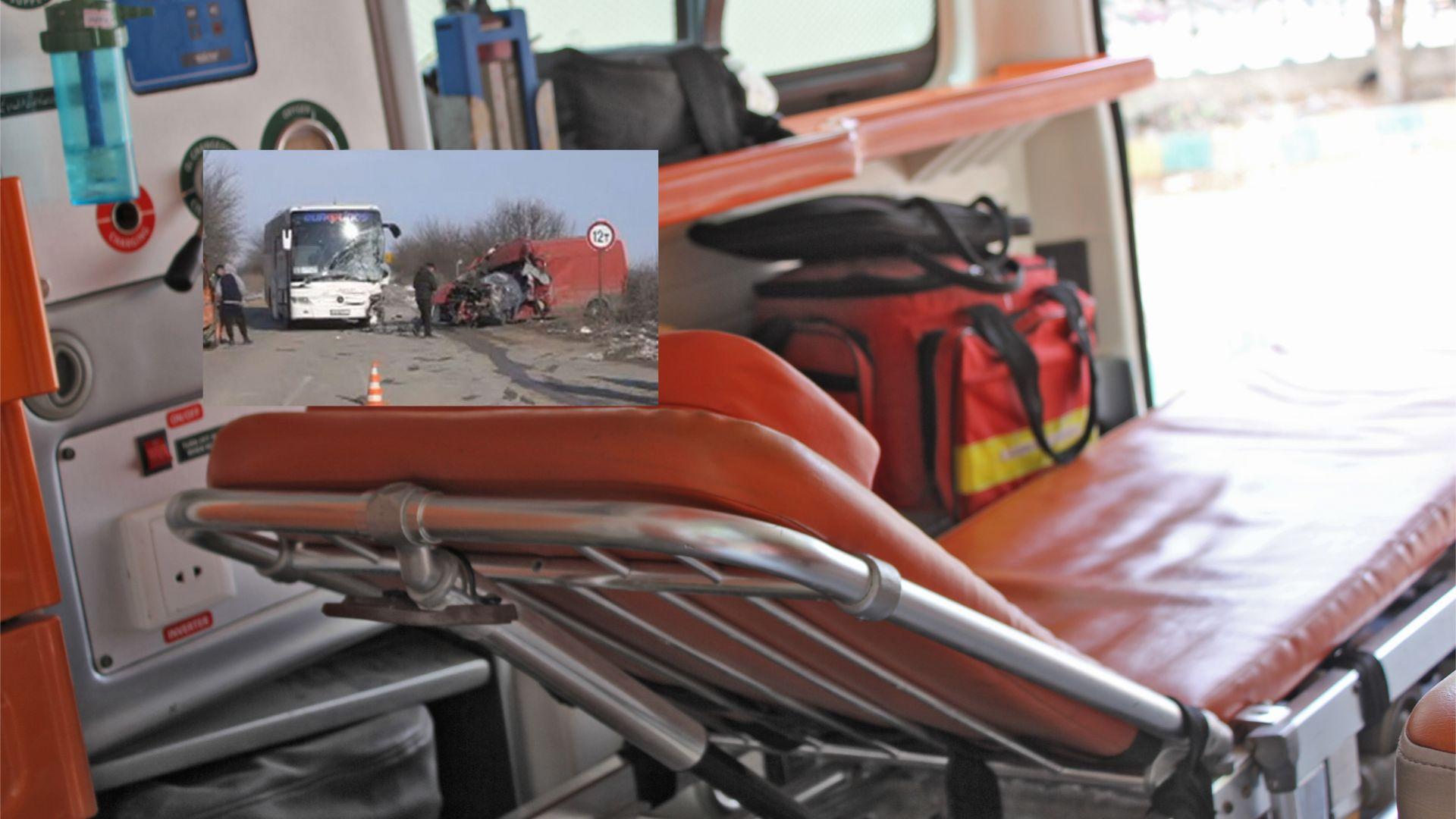 Шофьор загина след удар с автобус край Монтана