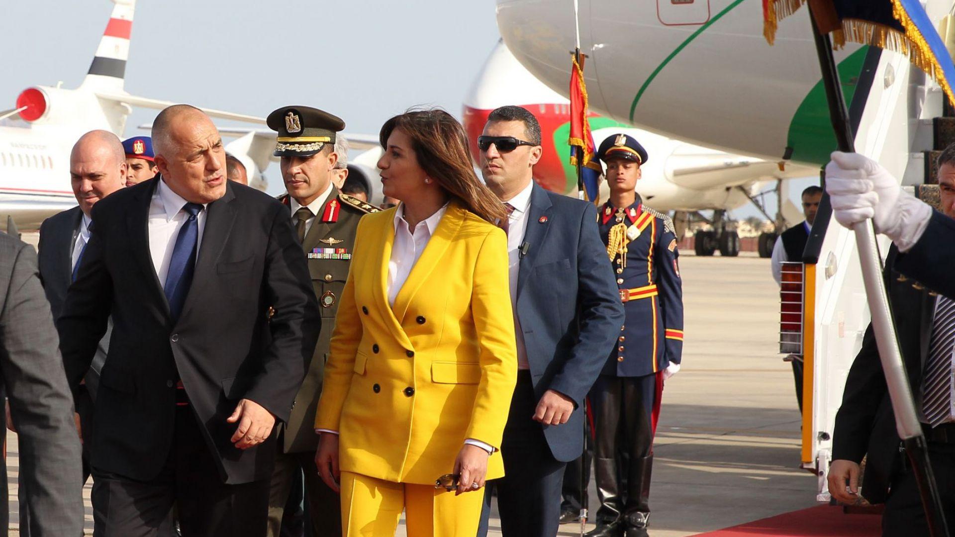 Бойко Борисов пристигна в Египет за срещата с Арабската лига